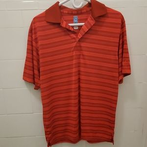 Men's Red Golf Shirt by PGA Tours